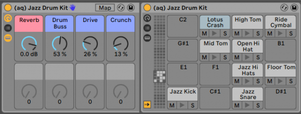 Jazz Drum Ableton Live Rack Live 10 Grey